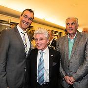 NLD/Laren/20140512 - Anita Meijer ontvangt de Radio 5 Nostalgia Ouevreprijs , Jacques d' Ancona en partner Hans Langenhout en Mario van den Ende