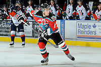 KELOWNA, CANADA, OCTOBER 29: Filip Vasko #10 of the Kelowna Rockeets skates on the ice as Kamloops Blazers visit the Kelowna Rockets  on October 29, 2011 at Prospera Place in Kelowna, British Columbia, Canada (Photo by Marissa Baecker/Shoot the Breeze) *** Local Caption *** Filip Vasko;