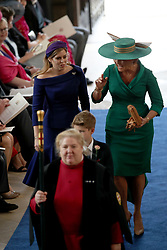 Sarah Ferguson and Princess Beatrice arrives for the wedding of Princess Eugenie to Jack Brooksbank at St George's Chapel in Windsor Castle.