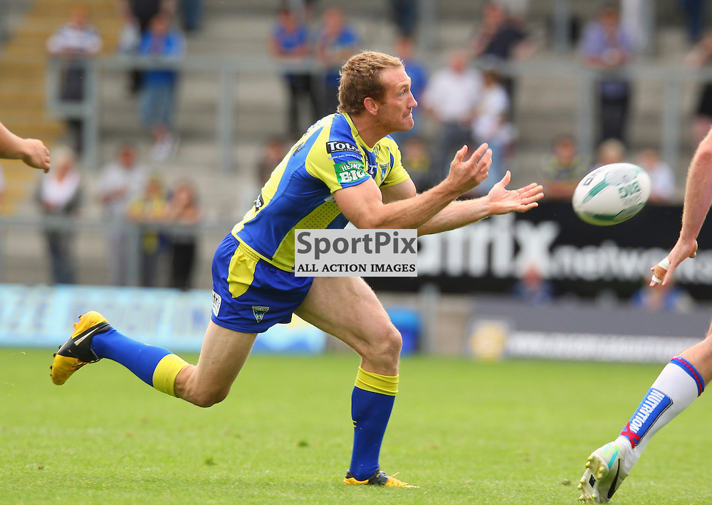 Michael Monaghan of Warrington in action, Warrington Wolves vs Wakefield Wildcats, Super League, 10 August 2013. (c) Thomas Miller | SportPix.org.uk