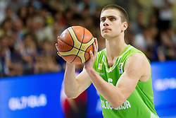 Jaka Brodnik of Slovenia during basketball match between National teams of Latvia and Slovenia in Qualifying Round of U20 Men European Championship Slovenia 2012, on July 16, 2012 in Domzale, Slovenia. Slovenia defeated Latvia 69-62. (Photo by Vid Ponikvar / Sportida.com)