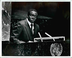 1972 - Robert Mugabe, leader of guerrilla war against Rhodesia (Credit Image: © Keystone Pictures USA/ZUMAPRESS.com)