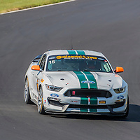 Alton, VA - Aug 26, 2016:  The Multimatic Motorsports Mustang Boss 302R races through the turns at the Oak Tree Grand Prix at Virginia International Raceway in Alton, VA.