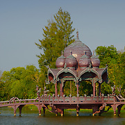 A decorated water pavilion at Muang Borang in Samut Prakarn, Thailand.