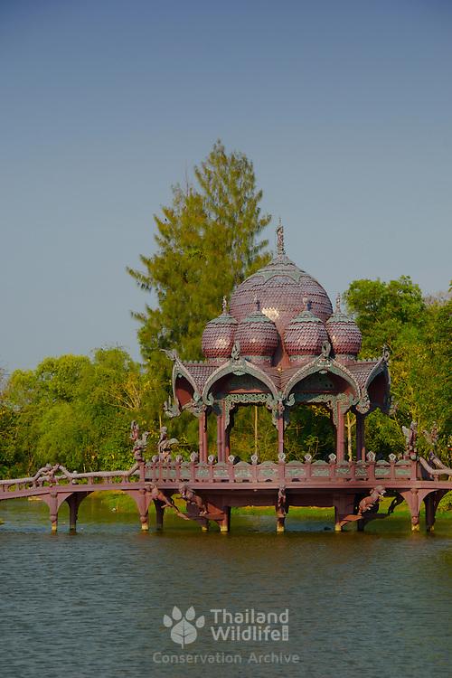 A decorated water pavilion at Muang Borang in Samut Prakarn, Thailand.