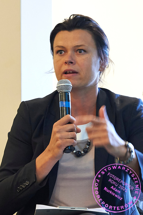 Magdalena Rejniak - Romer speaks while the General Assembly of Delegates of the Polish Tennis Association at Torwar Hall in Warsaw on June 23, 2015.<br /> <br /> Poland, Warsaw, June 23, 2015.<br /> <br /> Picture also available in RAW (NEF) or TIFF format on special request.<br /> <br /> For editorial use only. Any commercial or promotional use requires permission.<br /> Adam Nurkiewicz declares that he has no rights to the image of people at the photographs of his authorship.<br /> Mandatory credit:<br /> Photo by &copy; Adam Nurkiewicz / Mediasport