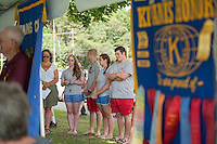 Pool Director Sandy Lazerick and her lifeguards during the 70th Anniversary celebration of the Kiwanis Pool in St. Johnsbury Vermont.  Karen Bobotas / for Kiwanis International