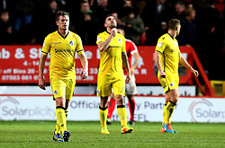 Bristol Rovers look dejected after conceding a third goal to Charlton Athletic - Mandatory by-line: Robbie Stephenson/JMP - 02/01/2017 - FOOTBALL - The Valley - Charlton, London, England - Charlton Athletic v Bristol Rovers - Sky Bet League One