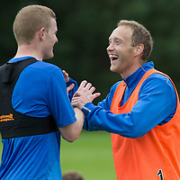 St Johnstone Pre-Season Training in Northern Ireland.. 08.07.16<br />Steven Anderson and Brian Easton<br />Picture by Graeme Hart.<br />Copyright Perthshire Picture Agency<br />Tel: 01738 623350  Mobile: 07990 594431