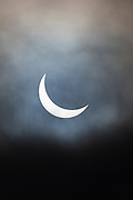 09.20 March 2015 Solar eclipse, partial eclipse of the sun, rare natural phenomenon seen from Burford, The Cotswolds, England UK