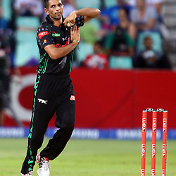 Durban South Africa - December 4,: Keshav Maharaj during the RAM Slam T20 match between Sunfoil Dolphins and Cape Cobras,Sahara Stadium Kingsmead (Photo by Steve Haag) images for social media must have consent from Steve Haag - ALL IMAGES MUST HAVE THE FOLLOWING BY-LINE STEVE HAAG