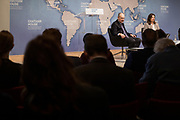 London, England, Uk, January 21 2019 - The Royal Institute for International Affairs, is a Think Tank commonly known as Chatham House.<br /> At the &quot;The Great Delusion: Liberal Dreams vs International Realities&quot; event with Pr John J. Mearsheimer &amp; Dr Leslie Vinjamuri.
