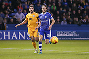 Sheffield Wednesday midfielder, on loan from Sunderland, Will Buckley (38)  plays the ball through  during the EFL Sky Bet Championship match between Sheffield Wednesday and Preston North End at Hillsborough, Sheffield, England on 3 December 2016. Photo by Simon Davies.