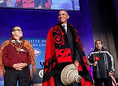 US President Barack Obama attends the 2016 White House Tribal Nations Conference, 26 September 2016