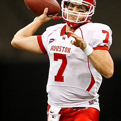 November 10, 2011; New Orleans, LA, USA; Houston Cougars quarterback Case Keenum (7) against the Tulane Green Wave at the Mercedes-Benz Superdome.  Mandatory Credit: Derick E. Hingle-US PRESSWIRE