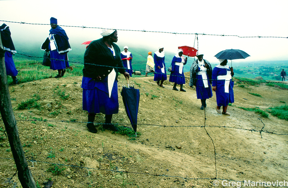 KwaZulu Natal, South Africa. Mass funeral for victims of political violence.