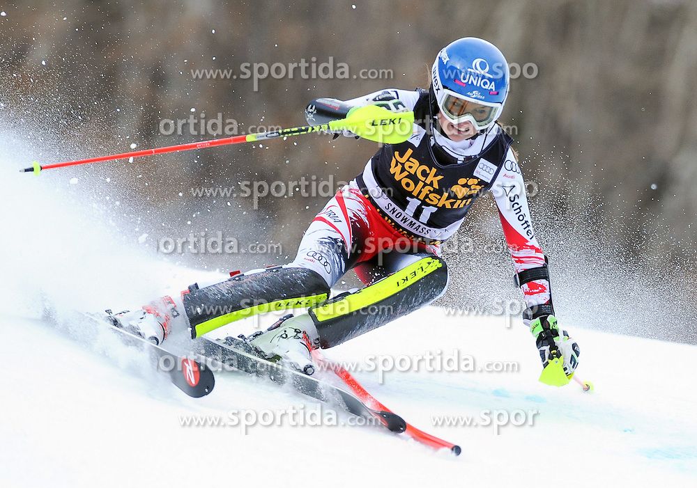 30.11.2014, Aspen Mountain Course, Aspen, USA, FIS Weltcup Ski Alpin, Aspen, Slalom, Damen, 1. Lauf, im Bild Bernadette Schild (AUT) // Bernadette Schild of Austria in action during 1st run of ladies Slalom of FIS Ski Alpine Worldcup at the Aspen Mountain Course in Aspen, Canada on 2014/11/30. EXPA Pictures © 2014, PhotoCredit: EXPA/ Erich Spiess