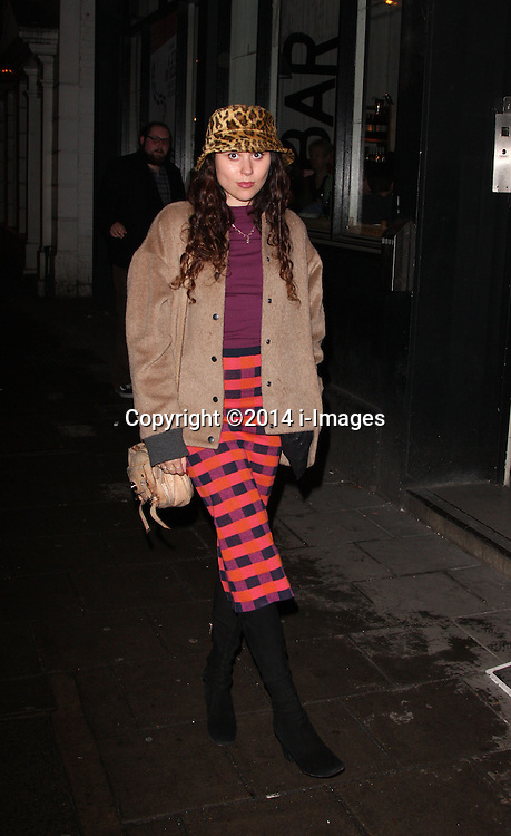 ELIZA DOLITTLE arrives for the opening night for the new musical A-Z Of Mrs P, London, United Kingdom. Monday, 24th February 2014. Picture by i-Images