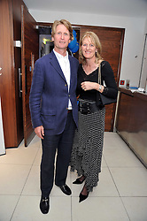 DAVID & LADY ISABELLA NAYLOR-LEYLAND at the launch of the 2009 Derby Festival in the presence of HRH Princess Haya of Jordan in aid of the charity Starlight held at the Kensington Roof Gardens, 99 Kensington High Street, London W8 on 12th May 2009.