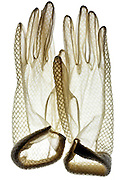pair of white translucent gloves