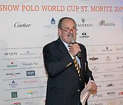 2019, Januari 24. Kulm Hotel, St Moritz. Spelerspresentatie van de Snowpolo World Cup.