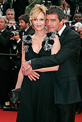"""11.05.2011, Cannes, FRA, Filmfestspiele von Cannes 2011, im Bild Actors Melanie Griffith and Antonio Banderas attending the 63rd Annual Cannes Film Festival / Festival de Cannes 2011 - Opening and premiere of """"Midnight in Paris"""" .FESTIWAL FILMOWY W CANNES.PREMIERA FILMU.FOT. EXPA Pictures © 2011, PhotoCredit: EXPA/ EXPA/ Newspix/ Future Images +++++ ATTENTION - FOR AUSTRIA/(AUT), SLOVENIA/(SLO), SERBIA/(SRB), CROATIA/(CRO), SWISS/(SUI) and SWEDEN/(SWE) CLIENT ONLY +++++"""
