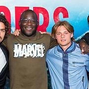 NLD/Amsterdam/20170522 - Premiere film Broers, Bram Schouw, Rodney Glinder, Jonas Smulders en Niels Gomperts
