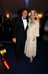 Actress KATRINE BOORMAN and writer DANNY MOYNIHAN at the British Red Cross London Ball held at The Room by The River, 99 Upper Ground, London SE1 on 16th November 2006.<br />