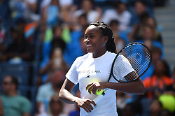 Coco Gauff (USA) during Kid's day at the 2019 US Open at Billie Jean National Tennis Center in New York City, NY, USA, on August 24, 2019. Photo by Corinne Dubreuil/ABACAPRESS.COM