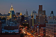 View up Bowery from 250 Bowery, Penhouse
