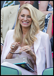 July 3, 2018 - London, London, United Kingdom - Image licensed to i-Images Picture Agency. 03/07/2018. London, United Kingdom. Tess Daly in the Royal box on day two of the Wimbledon Tennis Championships in London. (Credit Image: © Stephen Lock/i-Images via ZUMA Press)