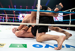 Marko Drmonjič (black) vs Zoran Đođ during their middleweight fight at CFC 5 Fighting event, on October 6, 2019 in Arena Stozice, Ljubljana, Slovenia. Photo by Vid Ponikvar / Sportida