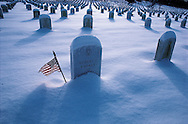 Virginia. Arlington National Cemetery, American Flag,, Established during Civil War in 1864, honors the dead of every conflict since.