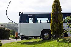 Wellington-Bus over shoots kerb in Tawa U turn