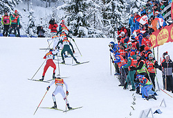 16.12.2017, Nordische Arena, Ramsau, AUT, FIS Weltcup Nordische Kombination, Langlauf, im Bild die Spitzengruppe in einem Anstieg // the leading group during Cross Country Competition of FIS Nordic Combined World Cup, at the Nordic Arena in Ramsau, Austria on 2017/12/16. EXPA Pictures © 2017, PhotoCredit: EXPA/ Martin Huber