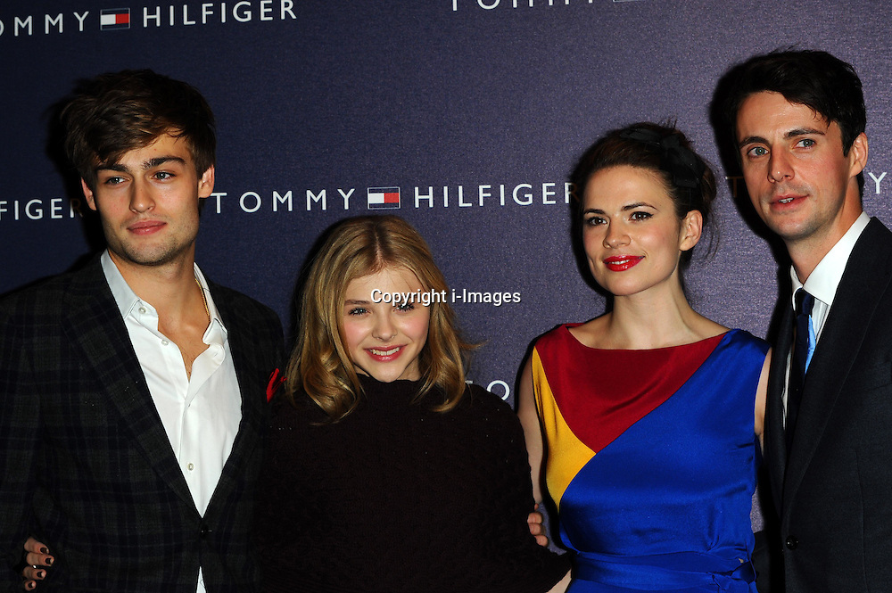 Douglas Booth, Chloe Moretz, Hayley Atwell and Matthew Goode attend the opening of the new Tommy Hilfiger store on in London on Thursday 1st December 2011. Photo by: i-Images