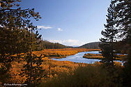 The Lewis River in Yellowstone National Park in Wyoming