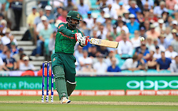 Bangladesh's Tamim Iqbal hits out during the ICC Champions Trophy, Group A match at The Oval, London.