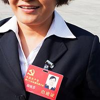 BEIJING, NOV. 8, 2012 : Abgeordnete verlaessen die Grosse Halle des Volkes.