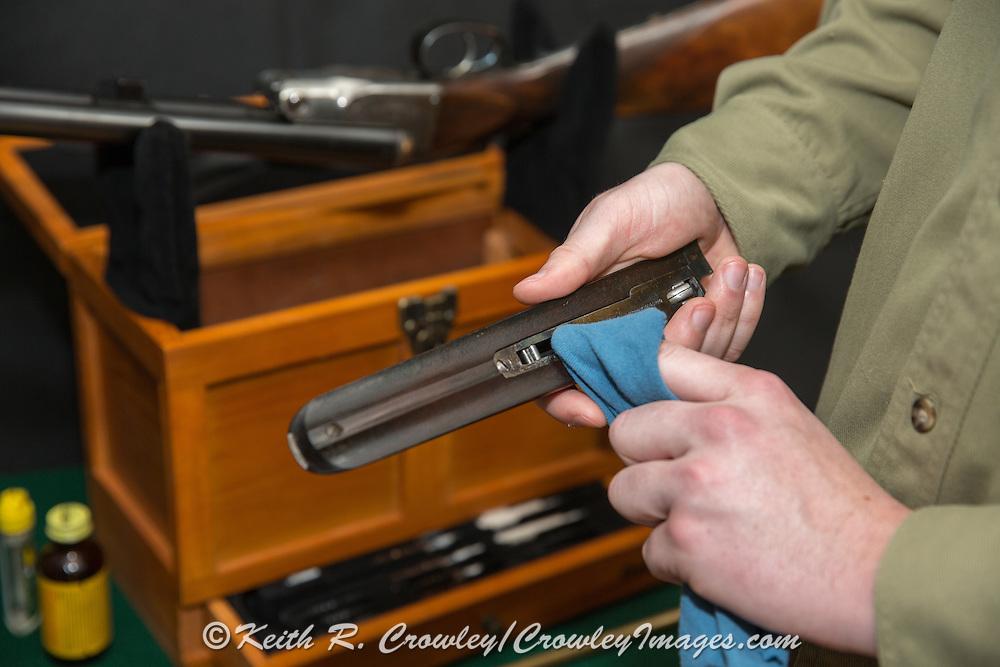 Repari, cleaning, and maintenence of a  shotgun