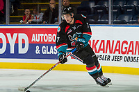 KELOWNA, CANADA - SEPTEMBER 22: Libor Zabransky #7 of the Kelowna Rockets warms up with the puck against the Kamloops Blazers on September 22, 2017 at Prospera Place in Kelowna, British Columbia, Canada.  (Photo by Marissa Baecker/Shoot the Breeze)  *** Local Caption ***