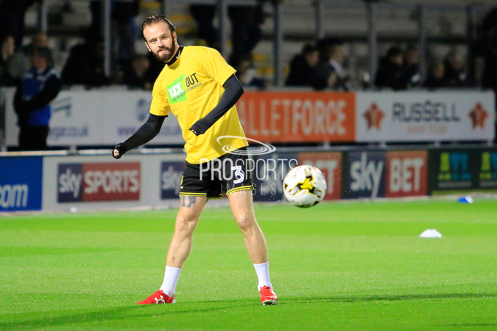 Burton's John Brayford (3) during the EFL Sky Bet Championship match between Burton Albion and Birmingham City at the Pirelli Stadium, Burton upon Trent, England on 21 October 2016. Photo by Richard Holmes.