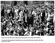 Survivors at the Worcester College May Ball. Oxford. June 1984. Film 84558f33<br />