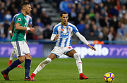 Huddersfield Town's Thomas Ince during the Premier League match between Huddersfield Town and West Bromwich Albion at the John Smiths Stadium, Huddersfield, England on 4 November 2017. Photo by Paul Thompson.
