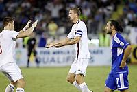 Fotball<br /> VM-kvalifisering<br /> 16.10.2012<br /> Kypros v Norge<br /> Foto: Savvides/Digitalsport<br /> NORWAY ONLY<br /> <br /> Brede Hangeland (5) jubler for utlikning til 1:1<br /> John Arne Riise