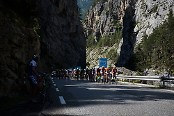 Boels Dolmans continue to set the pace on the climb at La Course 2017 - a 67.5 km road race, from Briancon to Izoard on July 20, 2017, in Hautes-Alpes, France. (Photo by Sean Robinson/Velofocus.com)