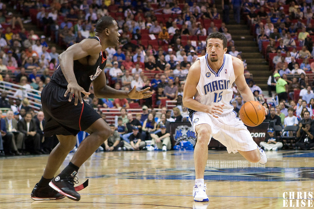 BASKETBALL - NBA - ORLANDO (USA) - 06/11/2008 -  .ORLANDO MAGIC V PHILADELPHIA SIXERS (98-88) - HEDO TURKOGLU / ORLANDO MAGIC, ELTON BRAND / PHILADELPHIA 76ERS