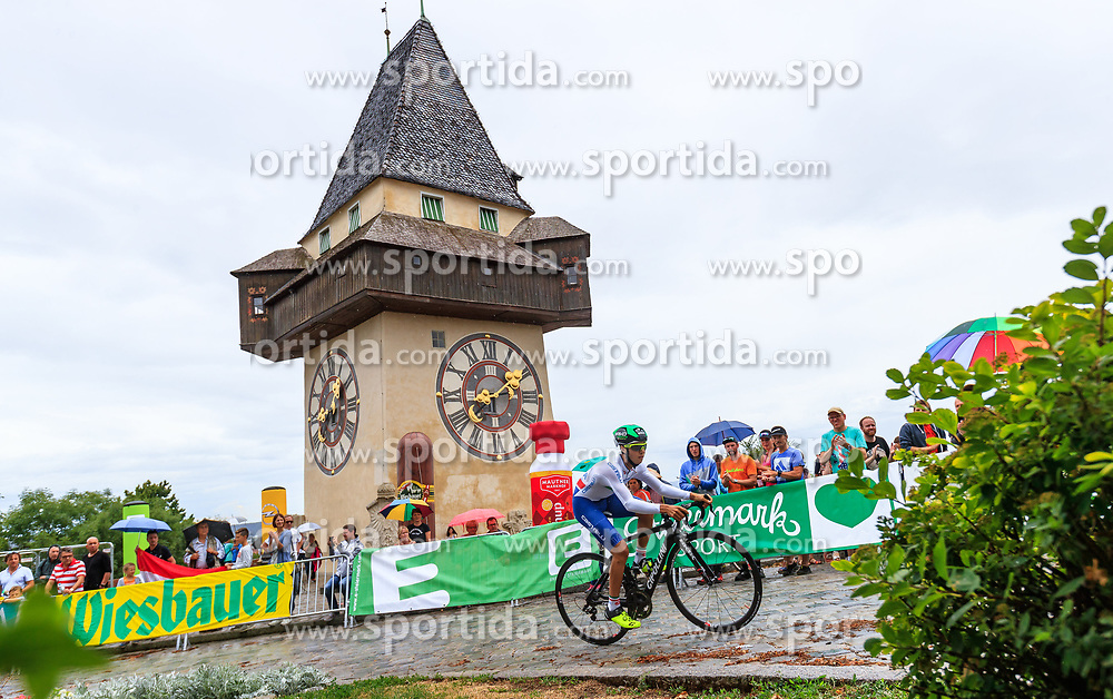 02.07.2017, Graz, AUT, Ö-Tour, Österreich Radrundfahrt 2017, 1. Etappe, Prolog, im Bild Simone Velasco (ITA, Nationale Italiana) // during Stage 1, Prolog of 2017 Tour of Austria. Graz, Austria on 2017/07/02. EXPA Pictures © 2017, PhotoCredit: EXPA/ JFK