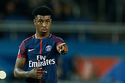 Paris Saint Germain's French defender Presnel Kimpembe during the French Championship Ligue 1 football match between Paris Saint-Germain and OGC Nice on October 27, 2017 at the Parc des Princes stadium in Paris, France - Photo Benjamin CREMEL / ProSportsImages / DPPI
