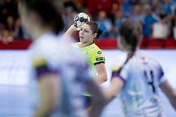 Olga Perederiy of RK Krim Mercator during handball match between RK Krim Mercator and FC Midtjylland in Main Round of Women's EHF Champions League 2017/18 , on January 27, 2018 in Sports hall Kodeljevo, Ljubljana, Slovenia. Photo by Urban Urbanc / Sportida